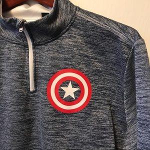 Marvel Captain America Quarter Zip Sweater.